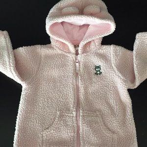 Other - Baby girl curly fleece full zip jacket